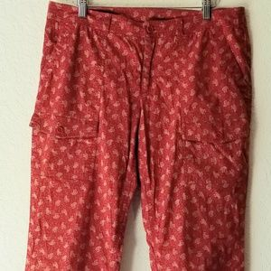Ralph Lauren Casual/ Cargo Red Cotton Pants
